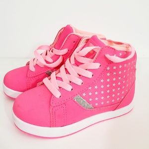 Fila Toddlers hot pink high top with glittery Star